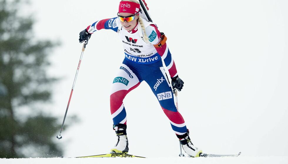 FOR GOD GLID: Tiril Eckhoff og skiskyttermiljøet prater for mye om rettferdig konkurranse og for lite om fluorsmurningens forbannelse. Det er uklokt nå som internasjonal skisport er i ferd med å ta et nødvendig oppgjør med denne giften. Foto: Bjørn Langsem / Dagbladet