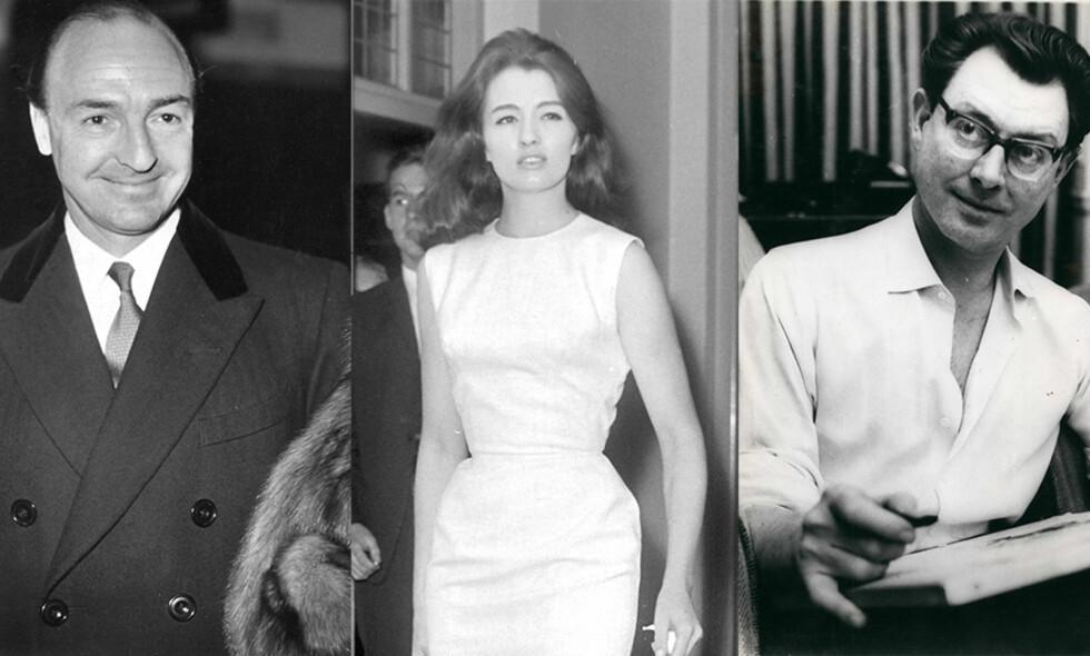 PROFUMO-SKANDALEN: Skandalen som blant annet omhandlet John Profumo, Christine Keeler og Stephen Ward førte nesten til fall for Harold Macmillians regjering i 1963. Foto: Mary Evans Picture / Topfoto  / Zuma press / NTB Scanpix