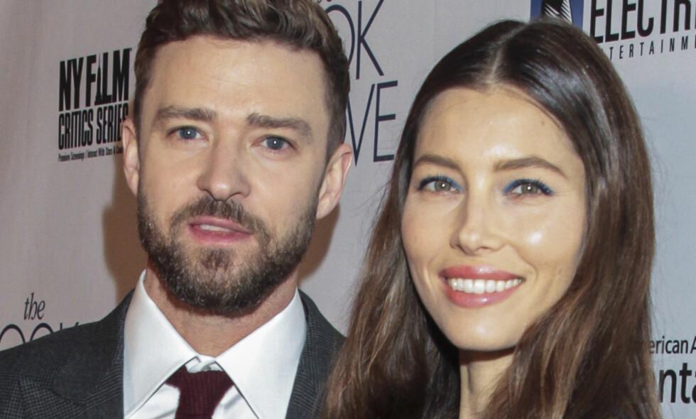 KJÆRLIGHET VED FØRSTE BLIKK: Jessica Biel legger ikke skjul å at hun raskt innså at Justin Timberlake var mannen i hennes liv. Foto: Scanpix
