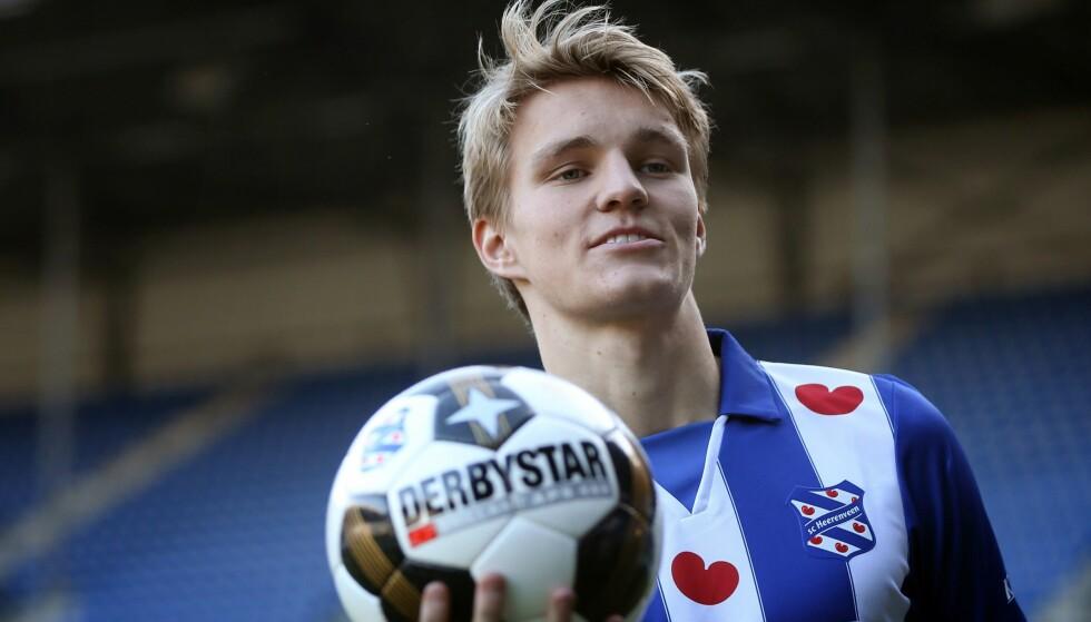 TAP: Heerenveen får det ikke til å klaffe på eget gress. Lørdag gikk Martin Ødegaard og hans lagkamerater på sitt fjerde strake hjemmetap. PEC Zwolle vant 2-1. Foto: NTB Scanpix
