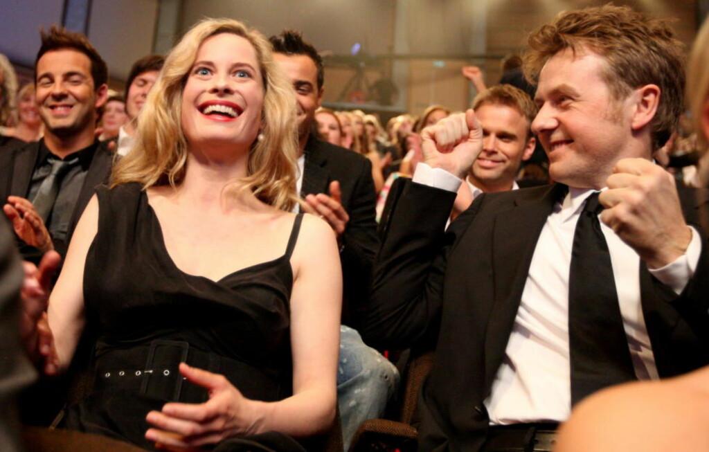FORELDRE IGJEN: Skuespiller Maria Bonnevie og Fredrik Skavlan ble foreldre igjen i dag. Foto: Bjørn Erik Larsen / Scanpix