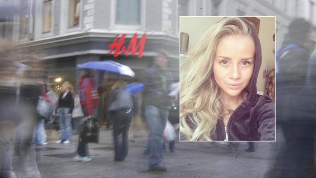 SKUFFET: Anniken Jørgensen legger ikke skjul på at hun føler seg brukt, etter å ha vært med i APTV-serien «Sweatshop». Nå raser hun mot Aftenposten og klesgiganten H&M. Foto: Dagbladet og Privat