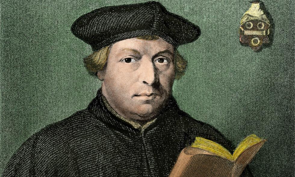 ÅPENBART RASIST: Martin Luther sine uttalelser om jøder; at de er parasitter, djevelens barn og giftslanger, alle deres fordervede egenskaper, og oppfordringen til å ty til vold og brenne ned synagogene viser at det er åpenbart at Luther var rasist, skriver biolog Hans K. Stenøien. Her er Luther portrettert av Holbein. Foto: NTB Scanpix