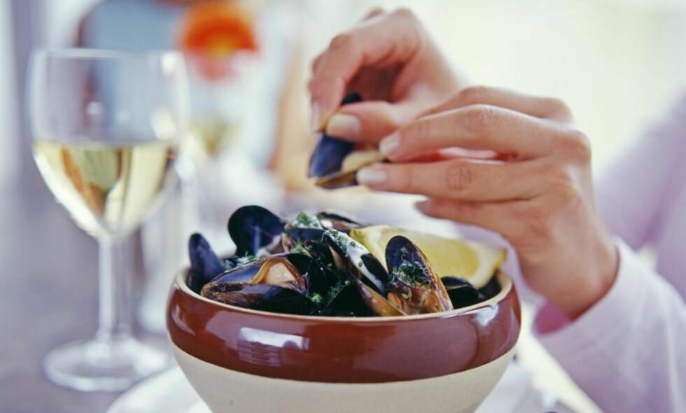 P9FRAMHEVER SMAKEN: Reker og blåskjell har frisk sjøsmak og hint av sødme. Vin med enkel lett stil vil framheve smaken. Foto: Shutterstock / NTB Scanpix