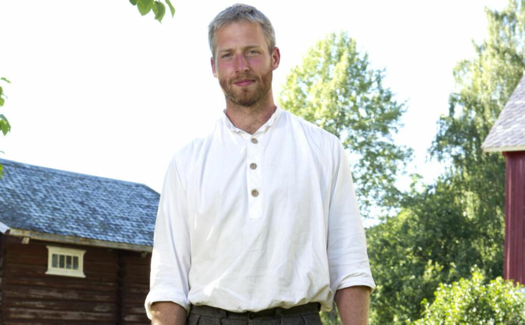 KONSERVATIV KRISTEN: «Farmen»-deltaker Andreas Nørstrund (27) fra Tuddal hisser allerede i første episode på seg flere av kvinnene på grunna av sine meninger om kristendom og kjønnsroller. Foto: TV 2