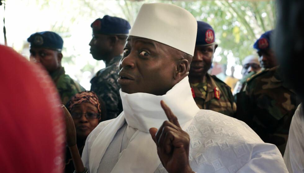 GÅR AV: Etter å ha styrt Gambia med jernhånd i over 20 år har Yayah Jammeh gått med på å gi fra seg makten. Foto: AP Photo / Jerome Delay / NTB scanpix
