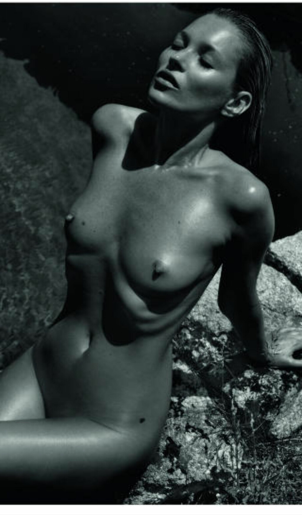 VISER NESTEN ALT: Kate Moss i Pirellis 2012-kalender. Foto: Stella Pictures