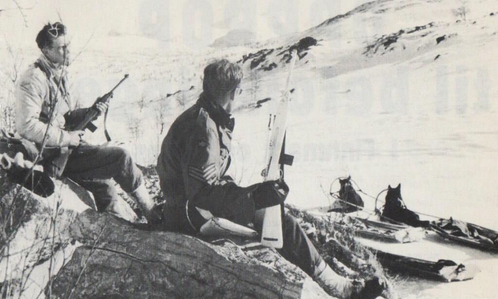 Blanding: Bevæpningen til Sepals-soldatene var en blanding av svenske, finske, engelske og amerikanske våpen smuglet inn gjennom Sverige. Illustrasjon: Fra boka Militær motstand i nord/Norsk Hjemmefrontmuseum