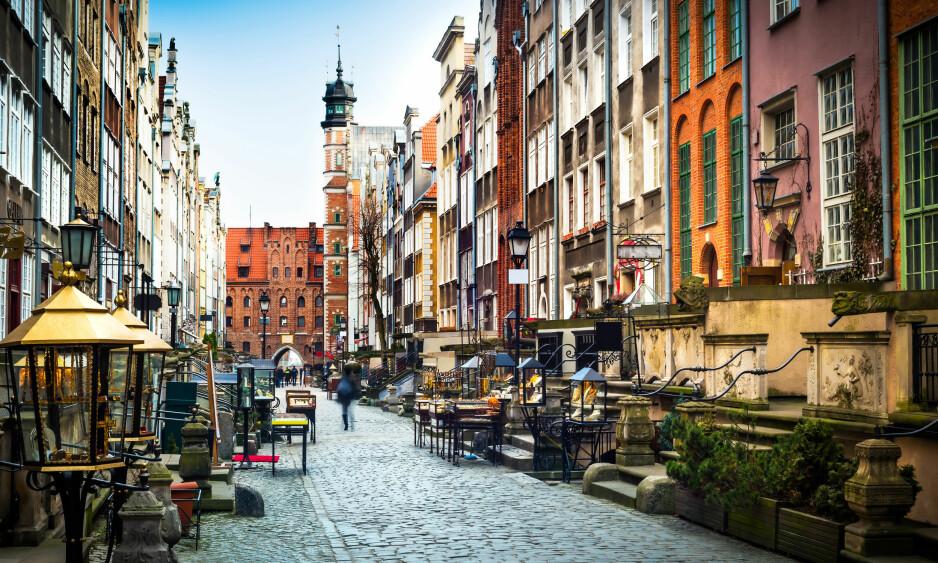 POPULÆR OG BILLIG: Gdansk suser inn på lista over en av de billigste storbyene i Europa. Her kan du feriere til ca en tredel av prisen i forhold til Oslo.