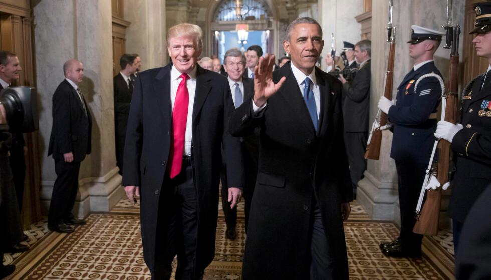 TI DAGER: Vanligvis pleier ikke tidligere presidenter å kritisere nye presidenter for politikken de fører. Etter bare ti dager har Obama imildertid tatt bladet fra munnen. Foto: REUTERS/ J. Scott Applewhite/ Pool     TPX