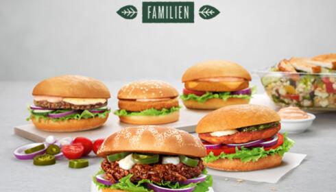GRØNT: Hos hamburgerkjeden Max er nå hver femte solgte burger vegetar.