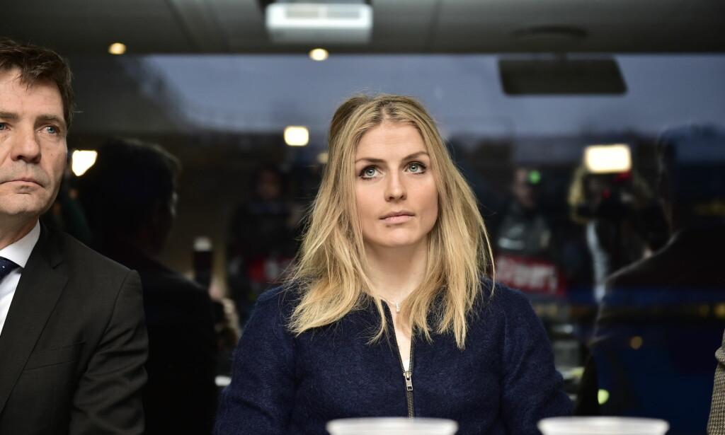 PÅ PLASS: Therese Johaug er på plass i sin egen muntlige høring på Ullevaal Stadion. Foto: Lars Eivind Bones / Dagbladet