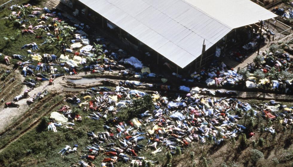 DØDE: 914 mennesker døde i Jonestown-massakren i Guyana i 1978. Foto: NTB Scanpix