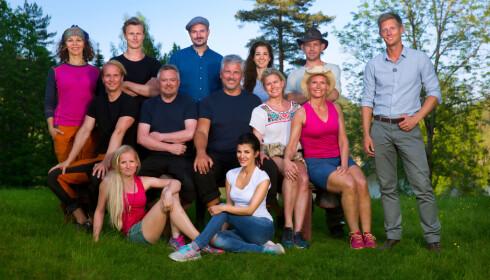 <strong>ÅRETS CAST:</strong> Det er disse kjendisene som deltar i årets første sesong av «Farmen Kjendis» på TV 2. Foto: TV 2