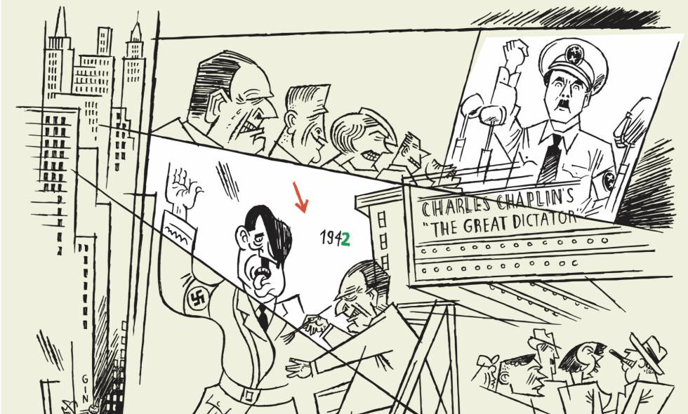 UPOPULÆR: George Grosz' samfunnskritiske kunst gjorde ham svært upopulær blant nazistene.  Illustrasjon fra boka