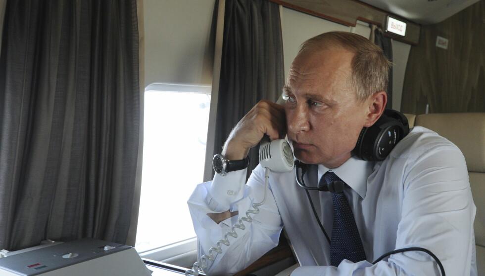 PRØVER Å NÅ GJENNOM: Russland og president Vladimir Putin mener Natos missilforsvarssystem i Europa forrykker den strategiske stabiliteten. I et lengre brev fra ambassaden i Oslo redegjør de nok en gang for sin motstand og advarer mot konsekvensene av norsk deltakelse. Foto: NTB Scanpix
