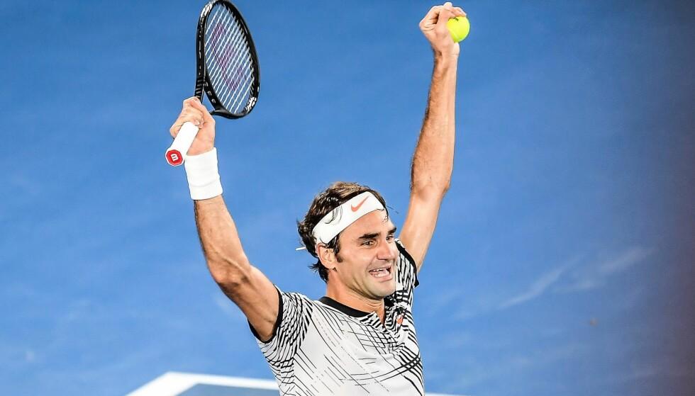 VANT: Roger Federer kunne juble for sin 18. Grand Slam-tittel. Foto: EPA/FILIP SINGER