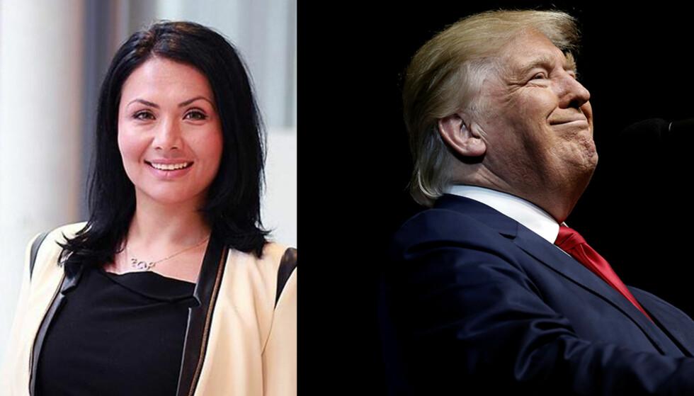 FORBUD: Norsk-iranske Elham Binai forteller hun har venner og familie i USA, opprinnelig fra Iran, som ikke tør å reise ut av landet på grunn av Donald Trumps innreiseforbud mot sju land. Foto: Privat / Reuters - NTB Scanpix