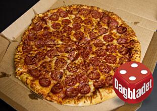 HELDEKKET: - Her ser du at de har gjort seg flid med pizzaen.
