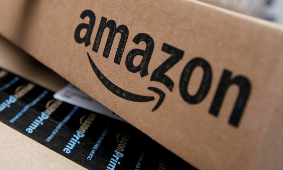 FORBUNDET MED TRUMP: Netthandelen Amazon. Foto: Mike Segar / Reuters / NTB Scanpix