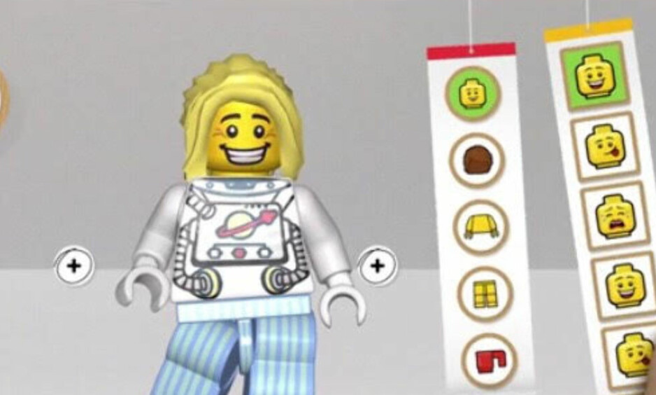 LIK OG KOMMENTÉR: I den nye Lego-appen for barn skal det være mulig å like og kommentere, men bare med emojis. Foto: Skjermdump fra Legos introduksjonsvideo til appen.