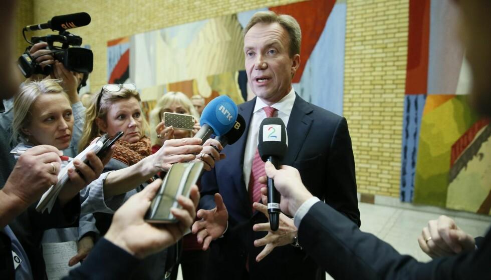 INDIGNERT: Utenriksminister Børge Brende (H)