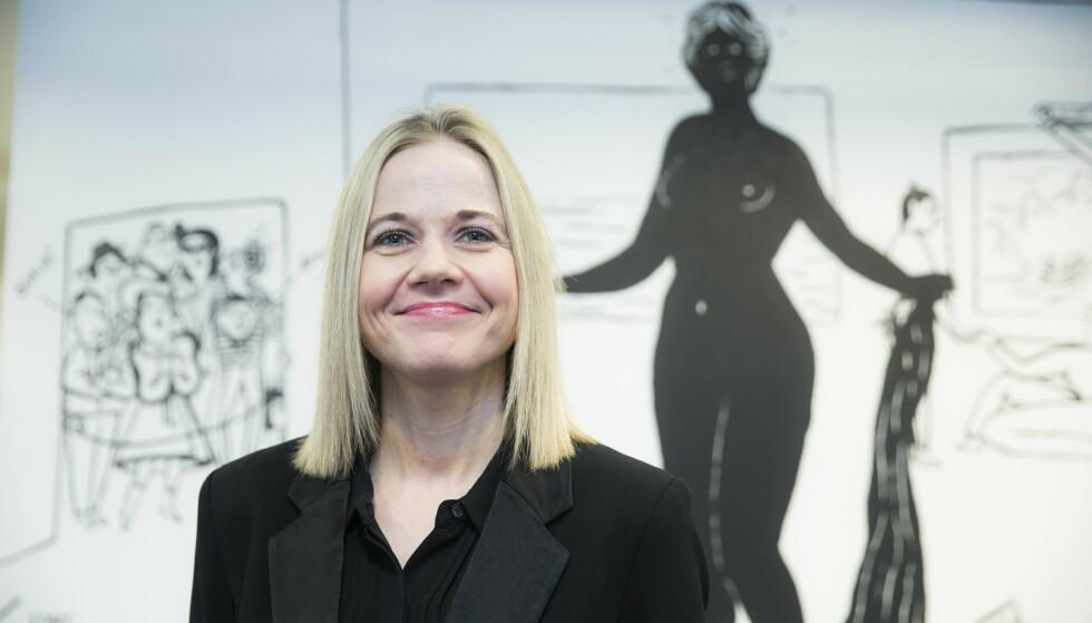 RETT KVINNE: Karin Hindsbo blir ny direktør ved Nasjonalmuseet. Styrelederen Linda Bernander Silseth sier hun vil være rett kvinne til å lede Nasjonalmuseet inn i en avgjørende epoke. Foto: Berit Roald / NTB scanpix