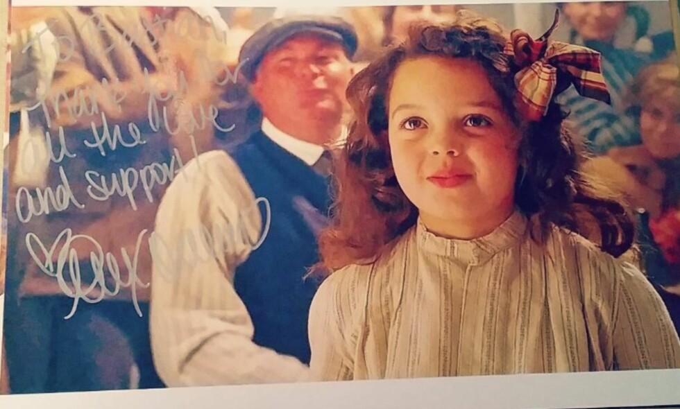 - BLIR GJENKJENT: Alexandrea Owens-Sarno forklarer overfor Dagbladet at hun fortsatt blir gjenkjent for rollen som Cora Cartmell i «Titanic». Foto: Privat