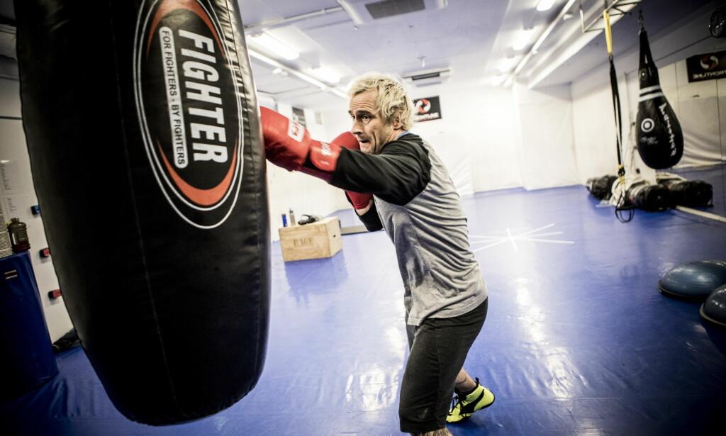 SLÅR LØS: Daniel Franck røper at han har skikkelig lyst på å gå en kamp. Enten i MMA eller boksing. Foto: Christian Roth Christensen / Dagbladet