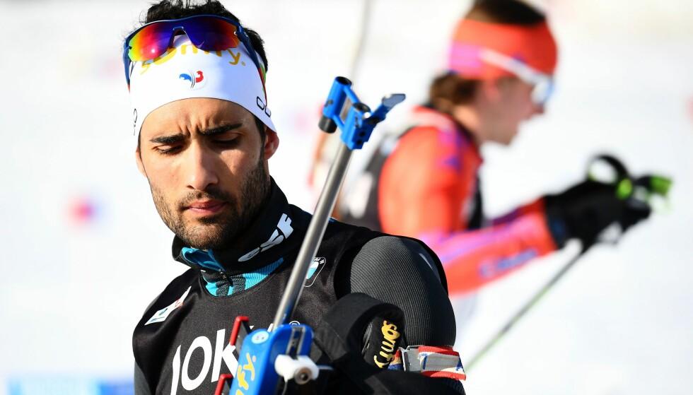 <strong>FÅR STØTTE:</strong> Martin Fourcades landsmenn står bak ham i konflikten mot de russiske skiskytterne. Foto: AFP PHOTO / FRANCK FIFE