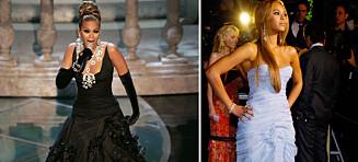 Stjal showet på Oscar-utdelinga i 2005. Egentlig skjulte Beyoncé en motetabbe som kunne sendt henne på trynet