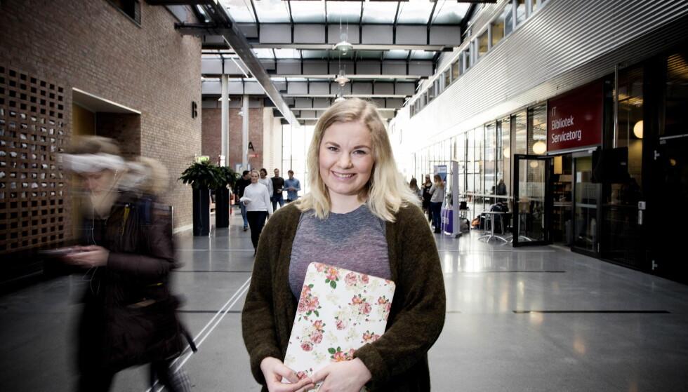 FÅR IKKE BLI LÆRER: Eline Storsæter har gode karakterer, men med 3 i matte får hun ikke bli lærer.  Foto: Tomm W. Christiansen / Dagbladet