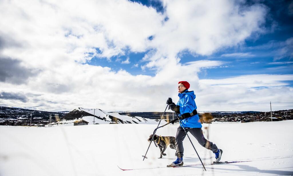 BEST ØSTAFJELLS: Starten på vinterferien blir best værmessig Østafjells, ifølge meteorologen. Men resten av landet må se langt etter godvær av denne typen. Her på Røros i Sør-Trøndelag.  Foto: Thomas Rasmus Skaug / Dagbladet