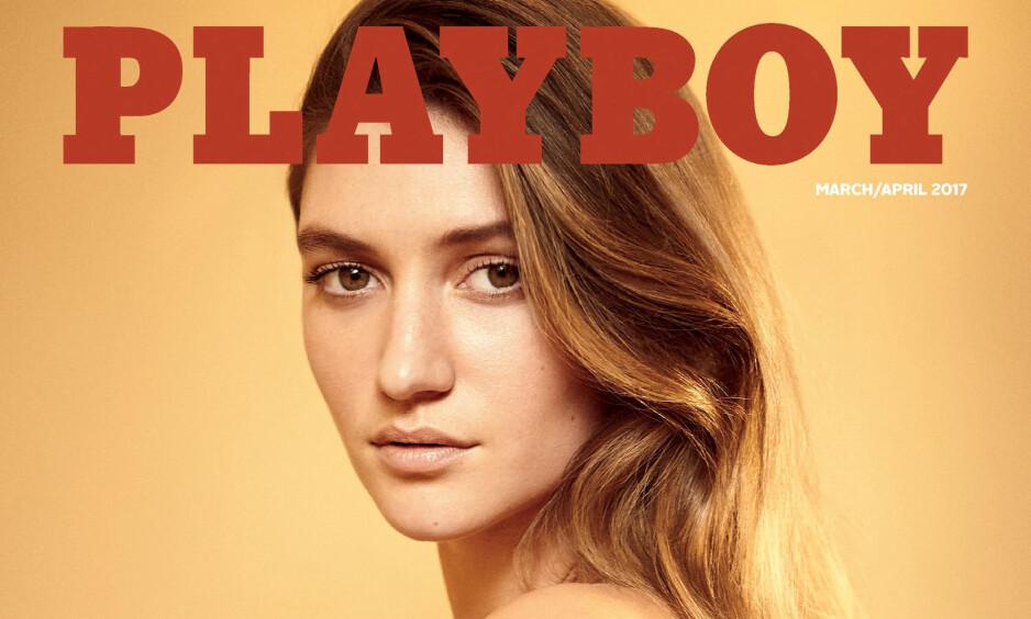NAKEN: Elisabeth Elam er «Miss March 2017» og pryder den nyeste utgaven av Playboy. Bladet går tilbake til nakne rumper og pupper etter en periode uten nakenhet. Foto: Gavin Bond/Playboy Enterprises, Inc/Handout via REUTERS