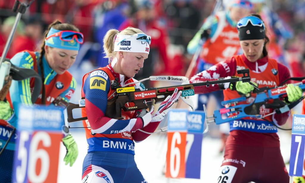 HOCHFILZEN, ØSTERRIKE 20170212. VM i skiskyting 2017. Marte Olsbu skjøt 19 treff av 20 mulige og  ble beste norske på 16.-plass under jaktstart kvinner, søndag  Foto: Berit Roald / NTB scanpix