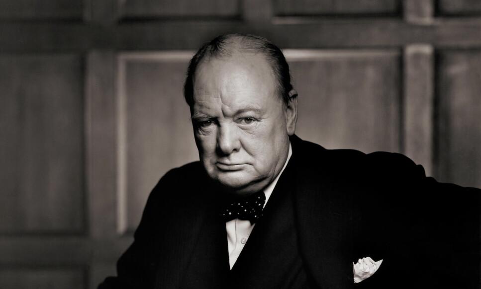 LEDER: Winston Churchill i 1941. Englands tidligere statsminister var lidenskapelig opptatt av vitenskap og skrev en mengde vitenskapelige artikler for magasiner og aviser. Foto: Yousuf Karsh