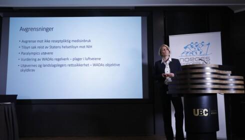 RAPPORT: Førstestatsadvokat Katharina Rise har ledet utvalget, som i dag la frem rapporten om medisinering av norske langrennsutøvere. Foto: Terje Bendiksby / NTB scanpix