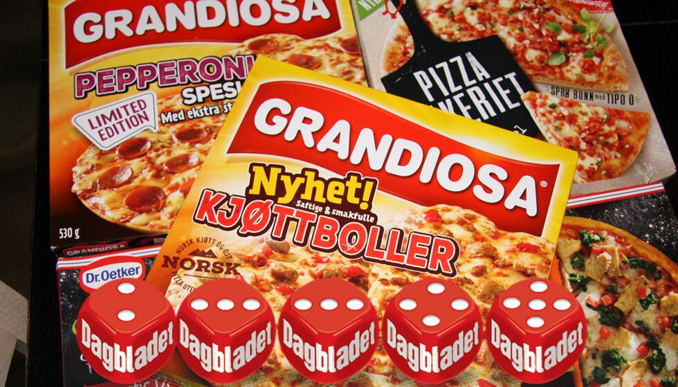 NYE PIZZASMAKER: Nordmenn elsker frossenpizza. Her er vårens nyheter, testet av norgesmesteren i pizzabaking. FOTO: Morten Eik/Produsentene