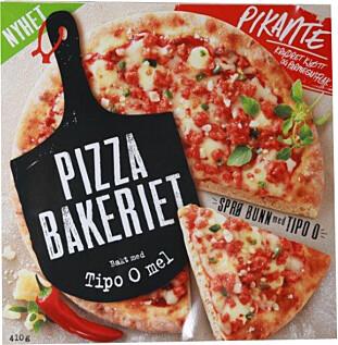 STERK: Picante-pizzaen fra pizzabakeriet sparker litt fra seg. Foto: Morten Eik