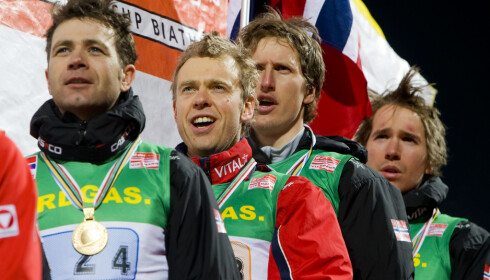 PIONÉR: Lars Berger og Ole Einar Bjørndalen var skiskyttere som lå foran de beste langrennsløperne i utviklingen. Foto: Heiko Junge / SCANPIX