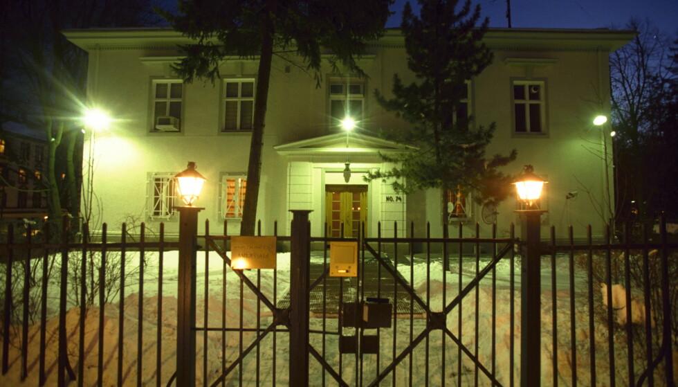 AMBASSADEN: Den russiske ambassaden i Oslo tar et flammende oppgjør med Norge. Foto: Dagbladet