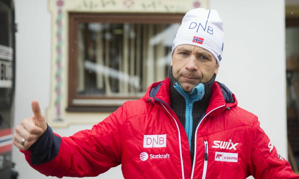 BARE POSITIVT: Ole Einar Bjørndalen. Foto: Berit Roald / NTB scanpix