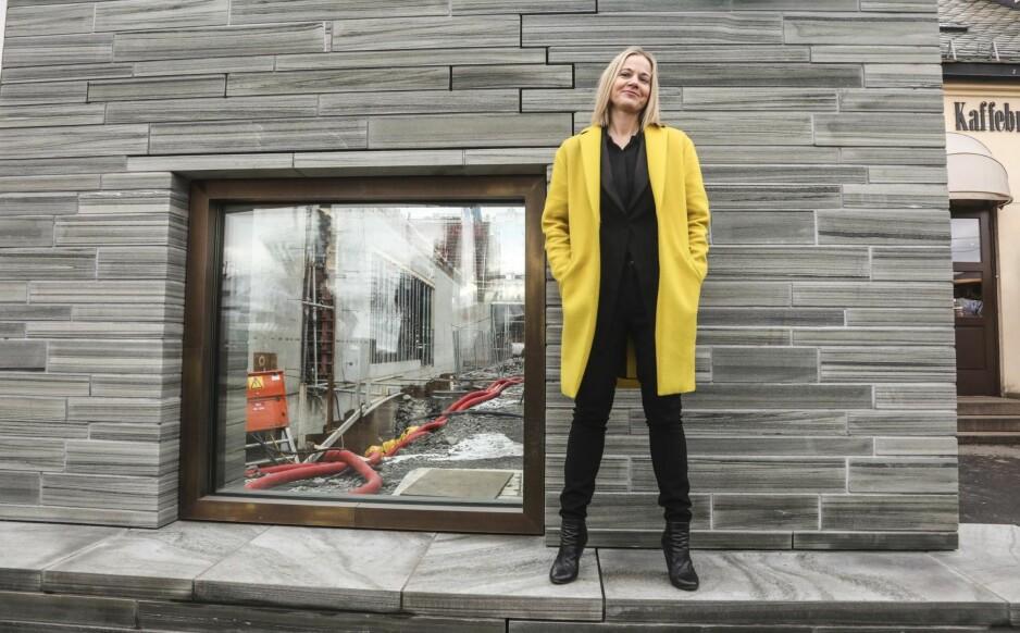 NY I BYEN: Karin Hindsbo skal lose oss inn i museets nybygg, og museet inn i en ny tid. Forventningene er mange og store til den utadvendte direktøren. Foto: Morten Uglum / NTB Scanpix