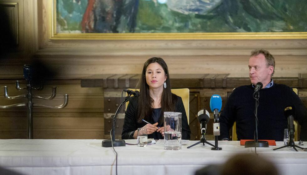 OSLO BYRÅD: Lan Marie Nguyen Berg og Raymond Johansen sier de vil jobbe for bedre søppelhåndtering nå som Oslo kommune har tatt over drifta. Foto: Sveinung U. Ystad / Dagbladet