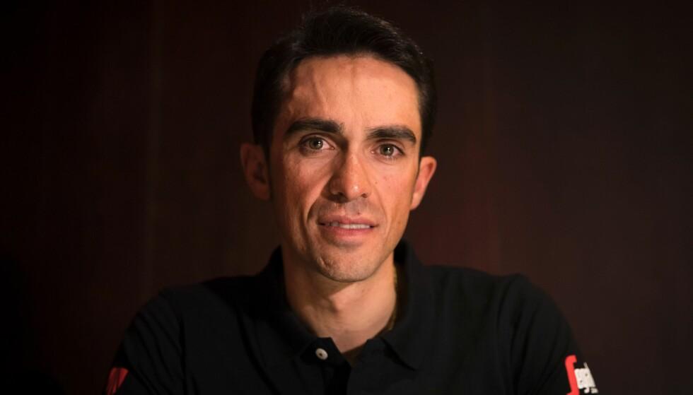 MERKET MANN: Alberto Contador kommer alltid til å ha dopingdommen hengende over seg. Det siste året har gitt nordmenn grunn til å se nærmere på slike dommer. Foto: NTB Scanpix/AFP / JAIME REINA