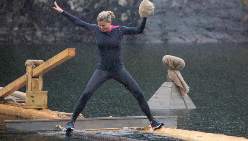 <strong>I FARTA:</strong> Vendela Kirsebom gjennomførte hinderløypekonkurransen, men skjønte på forhånd at hun var sjanseløs mot konkurrentene. Foto: Alex Iversen / TV 2