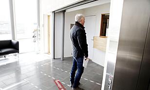 Jonny Enger leverte oppbudsbegjæring i Follo tingrett i dag. Foto: Christian Roth Christensen.