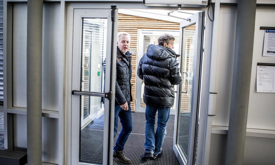 OPPBUD: Veireno-sjef Jonny Enger er på vei inn til Follo tingrett for å begjære selskapet konkurs. Foto: Christian Roth Christensen / Dagbladet