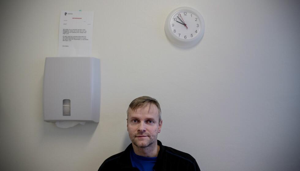 AKTIVIST: Jørgen Arne Skarsvåg sitter fengslet i Trondheim. Han nekter å anerkjenne tvangssalgene og fengselsstraffene han er idømt. Foto: Tomm W. Christiansen / Dagbladet