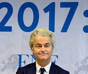ENSOM SEIER: Geert Wilders frihetsparti ligger an til å bli største parti i Nederland, men det er svært lite sannsynlig at dette vil føre til at han kommer i maktposijon, skriver artikkelforfatteren. Foto: AFP PHOTO / Roberto Pfeil